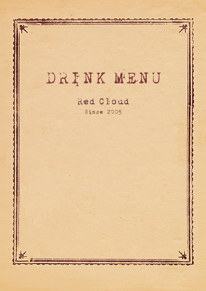 DINING BAR BAR RED CLOUD DRINK MENU 1