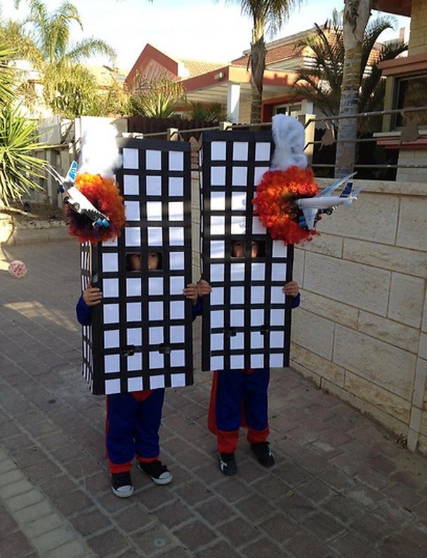 purim costume burning twin