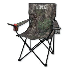 Custom Folding Chairs Leather Office Chair Camo W Carrying Bag Branded