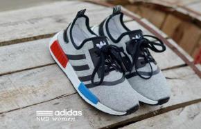 BA0119 Gray Black Adidas NMD Runner Women - Rp. 210000