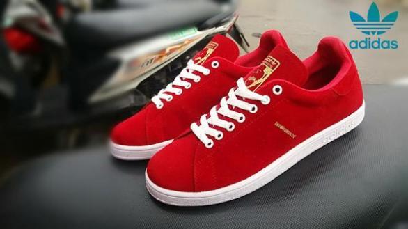 BA0382 Red Adidas The Hundreds Suede - Rp. 200000
