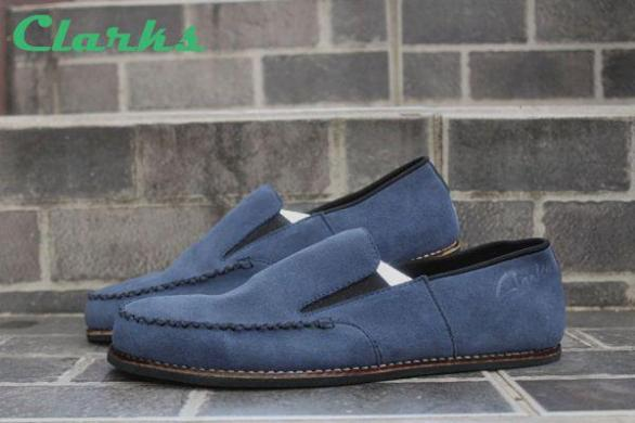 BC0003 Clarks Venice Navy Suede - Rp. 220000