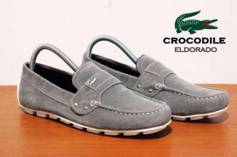 BC0078 Gray Crocodile Eldorado Suede Casual Rp. 170000