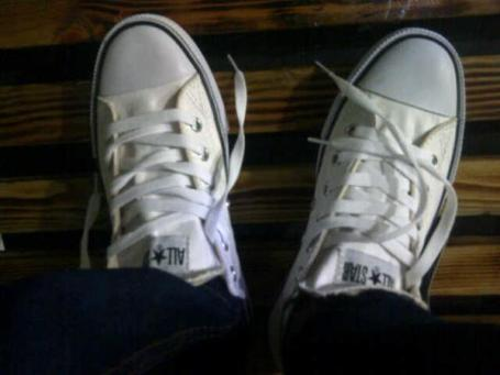 BC0257 White Converse All Star Low - Rp. 135000