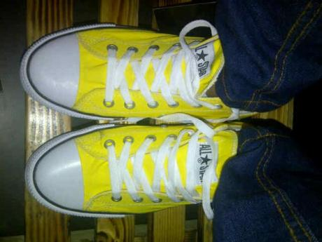 BC0260 Yellow Converse All Star Low - Rp. 135000