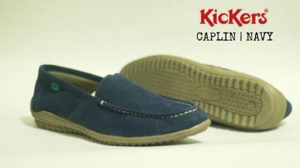 BK0426 Navy Kickers Slip On Chaplin - Rp. 170000