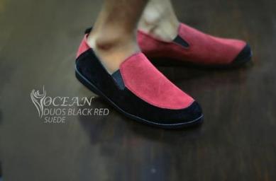 BO0364 Black Red Ocean Slip On Duos Authentic - Rp. 180000