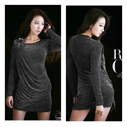 D4715 - Elastic Fiber Promo Rp. 80000 Normal Rp. 110000 (Mulai 1 Maret)Length-78cm, Bust-80-100cm, Shoulder 35cm, Sleeve 58cm, Weight 240gr