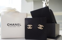[SOLD] FOR SALE: BNIB GOLD SIGNATURE CHANEL EARRINGS ...