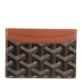 BD82667-GOYARD-Chevron-Saint-Sulpice-Card-Holder-Black-Tan-NEW-0