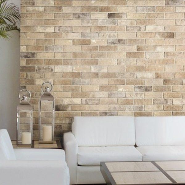 250X060 Bristol Cream Brick Branded Tiles