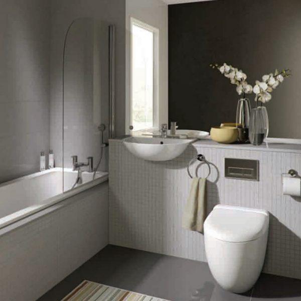 Brick And Wood Bathroom