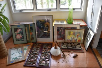 My Bounty from one day of two estate sales and an auction