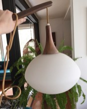 mid century modern wall lamp (I may need to keep this)