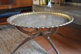 This was the owner's Great Grandmother's table! It's definitely an antique.