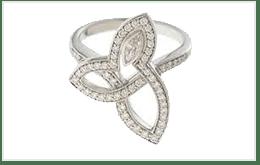 二手HARRY WINSTON 哈里溫斯頓 LILY CLUSTER鑽石戒指