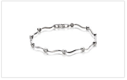 K18白金鑽石手鍊