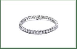 K18白金鑽石網球手鍊