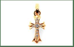 CHROME HEARTS 克羅心的十字架黃金項鍊