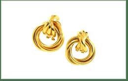 設計老舊的K18金耳環