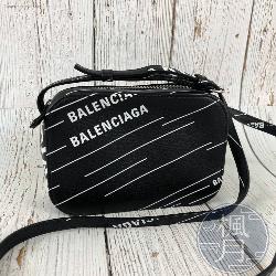 BALENCIAGA 552372 白字LOGO 相機包 斜背包 側背包