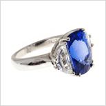 二手 Pt900 藍寶石 SAPPHIRE 鑽石 戒指