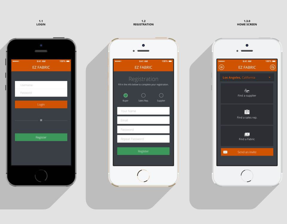 Mobile app design for Mobel design