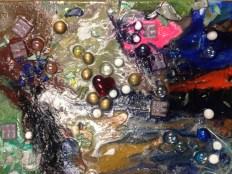 """Dason's Love"" Age 10 Mixed media on canvas 9x12"