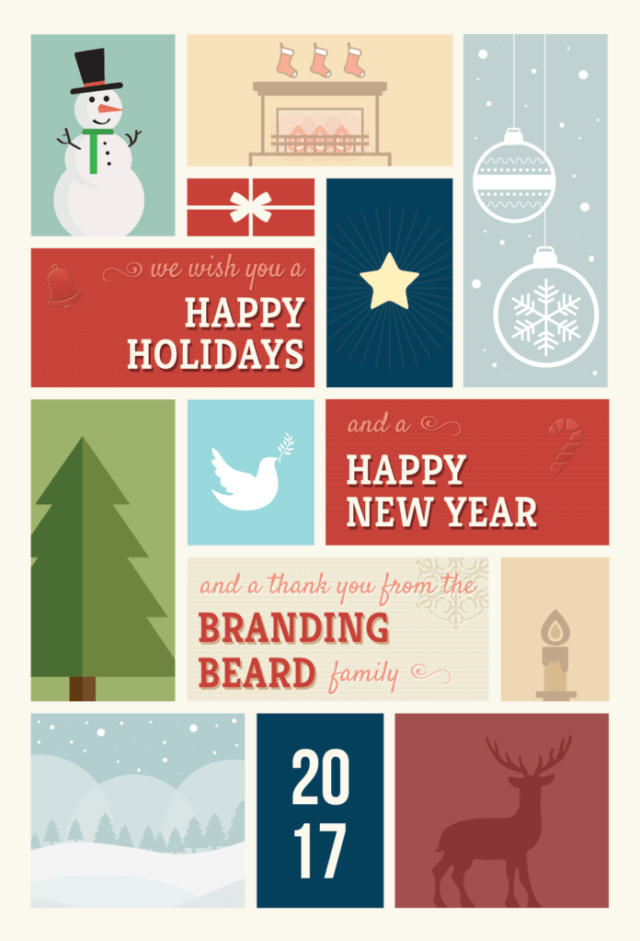 Holiday & New Year's Christmas Card – Branding Beard Giveaway