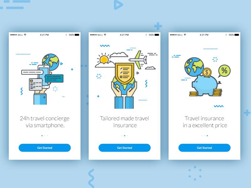 On Boarding - App Welcome Slider by Michał Durys