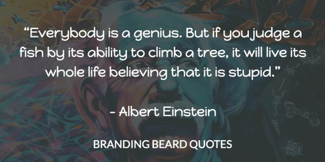 Einstein Quotes - Fish