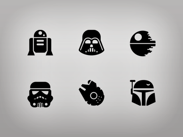 Star Wars Glyphs by Jory Raphael