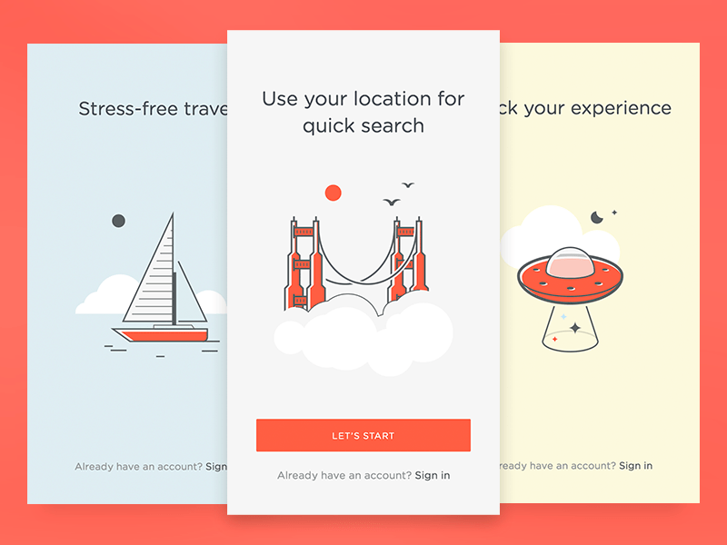Onboarding Cards by Creativedash