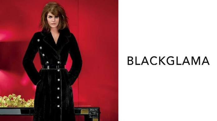 Blackglama ad featuring supermodel Hilary Rhoda
