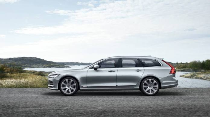 The new Volvo V90's sleek exterior lines are matched to a high-tech interior.