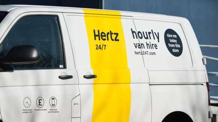 Hertz van for hire