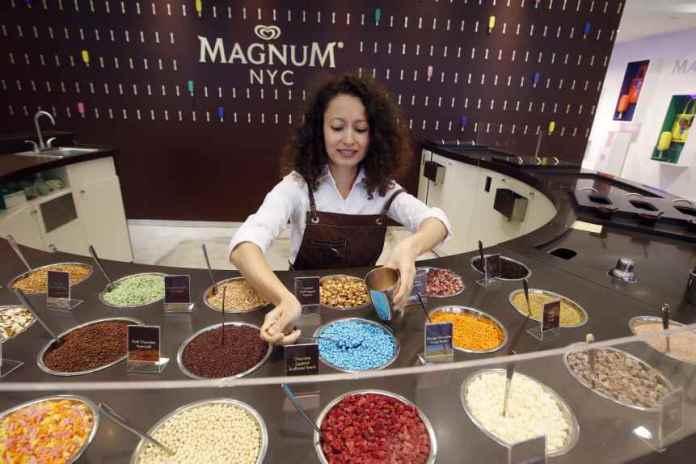 Magnum Ice Cream's new summer pop-up store at 875 Washington Street.