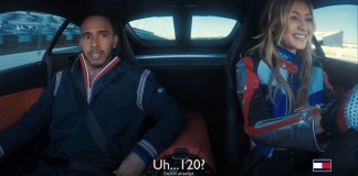 Lewis Hamilton and Gigi Hadid Burn Rubber in Tommy Hilfiger Video