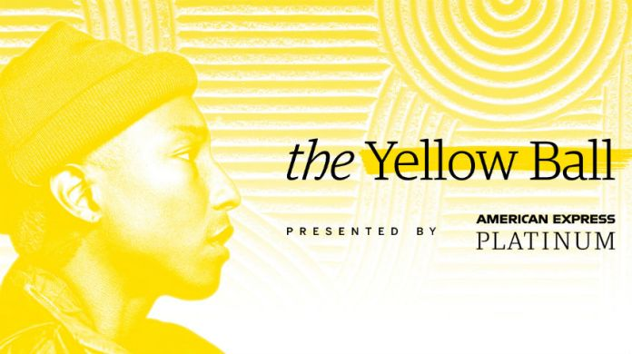 american express pharrell williams yellow ball