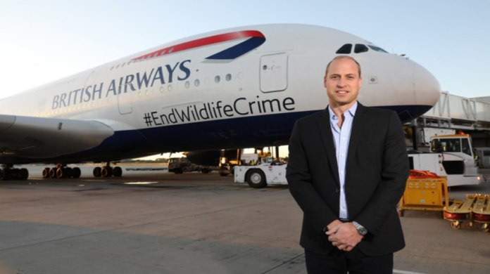 Prince William Uses British Airways to End Wildlife Crime