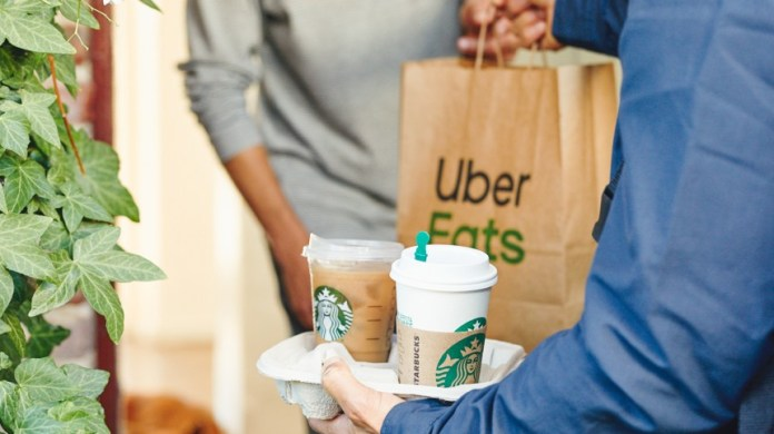 Starbucks Uber Eats Delivery 2020