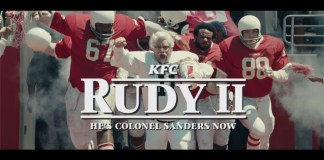 "KFC unveils ""Rudy II"" - A Colonel Sanders sequel to the classic film"