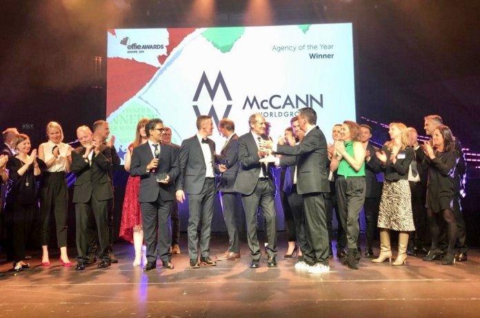 McCann Worldgroup European Agency Network of the Year Effie Awards 2019