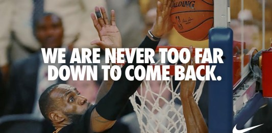 "Nike releases ""Never Too Far Down"" film narrated by LeBron James"
