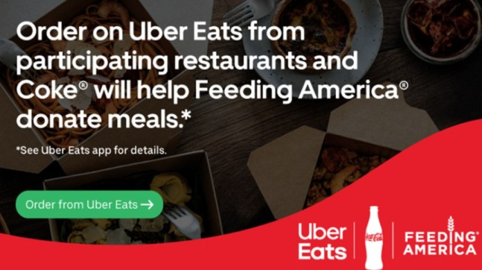 The Coca-cola Company announces a new partnership with Uber Eats