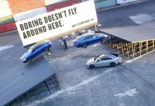 Kia Motors introduces it's latest sedan with a daring triple threat stunt