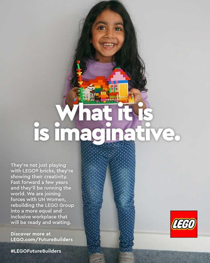 LEGO recreates iconic 1980's ad to celebrate female leaders of tomorrow