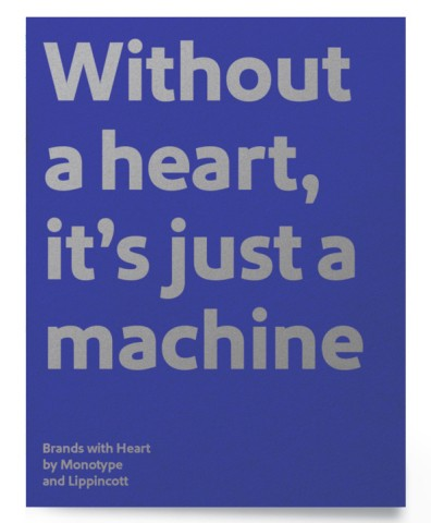Brands with Heart curated typeface collection by Monotype and Lippincott