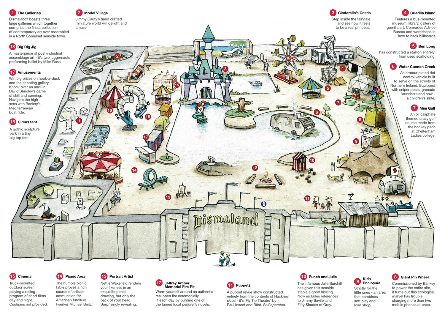 Banksys Dismaland Theme Park If You Cant Go At Least Watch The Trailer