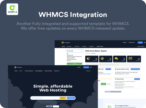 Hustbee - Hosting HTML & WHMCS Template - 1